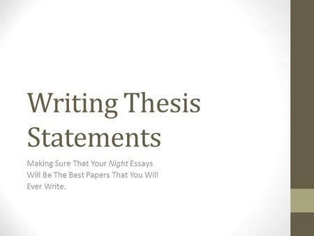Simple sample essay with thesis statement